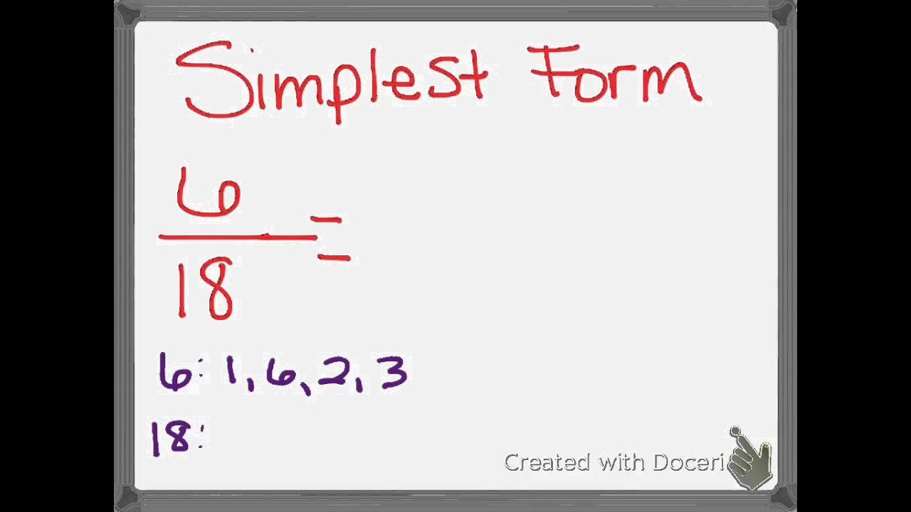 what is simplest form  Ch