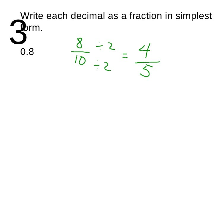 simplest form 3/12  Converting Fractions to Decimals Hex - simplest form 3/12