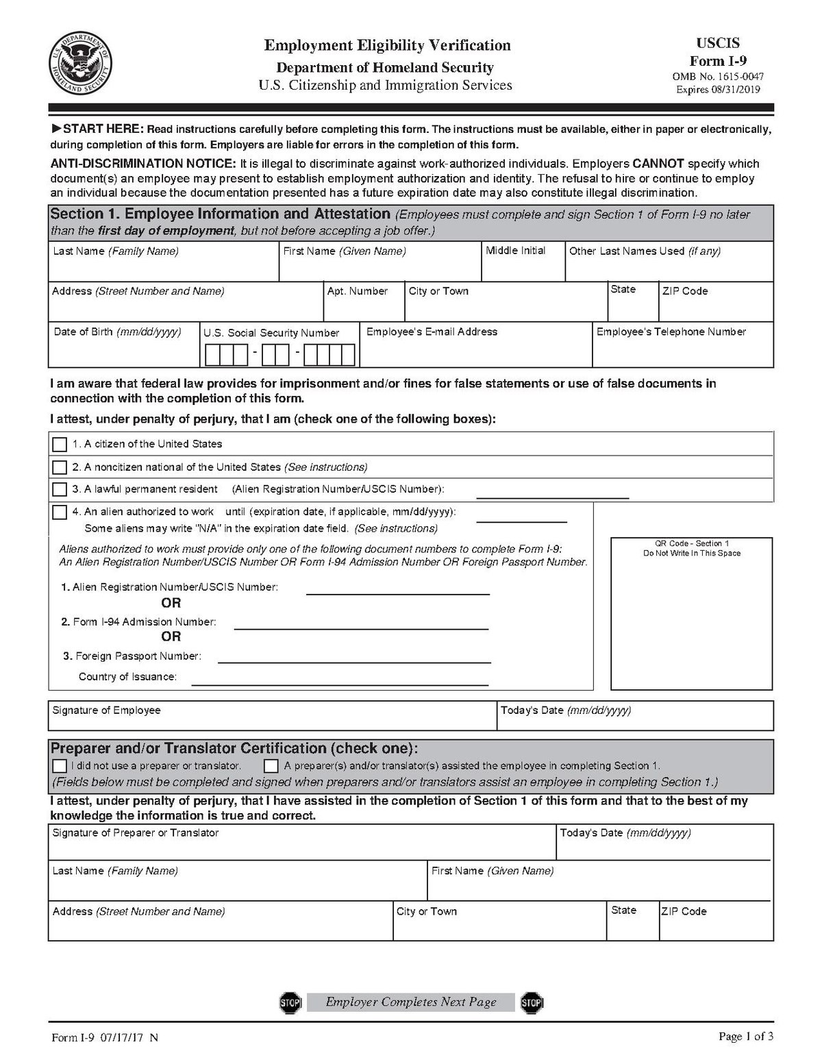 form i-9 issuing authority  Form I-9 - Wikipedia - form i-9 issuing authority