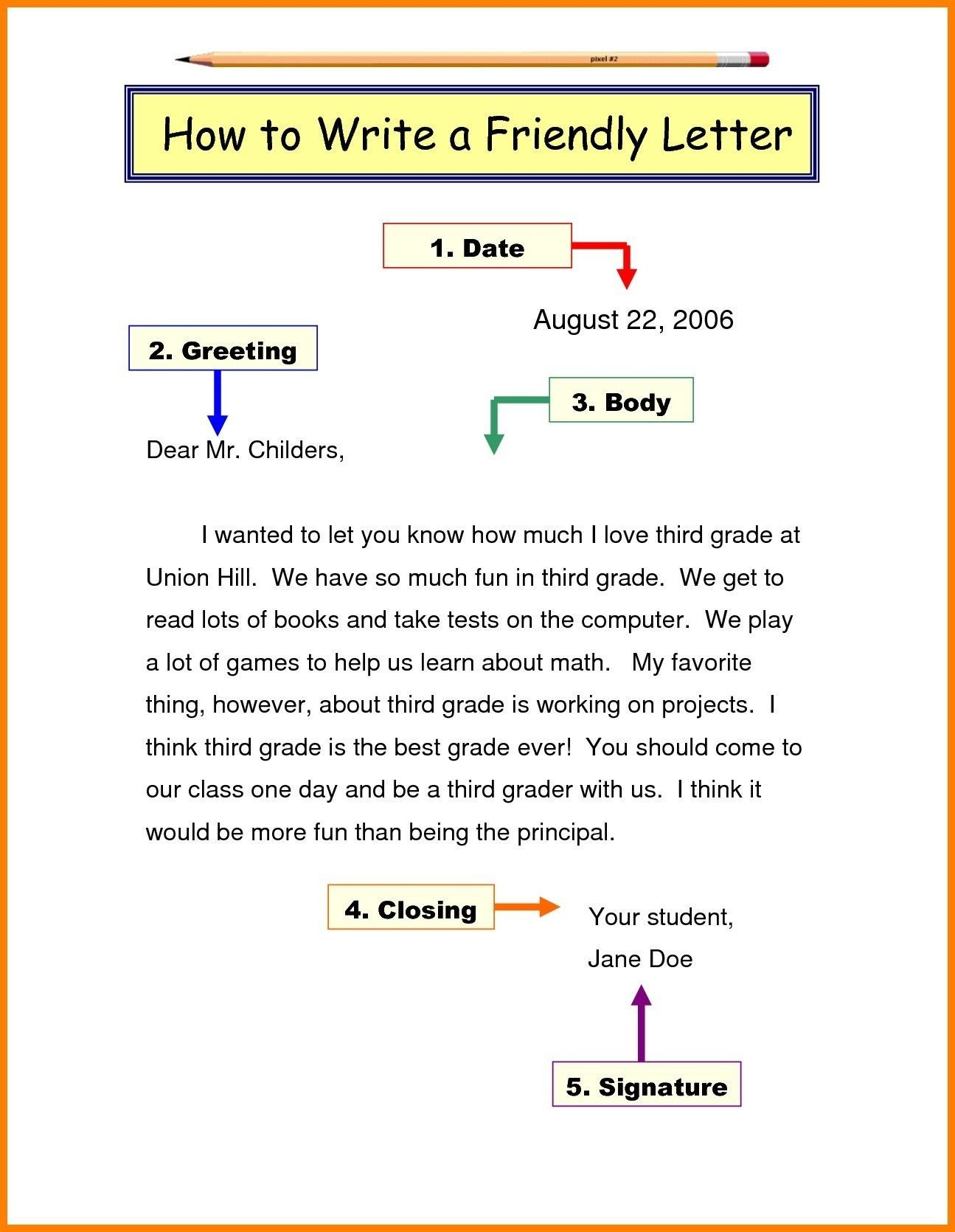 year 3 letter examples  Friendly Letter format Grade 3 Best Letter Writing format ..