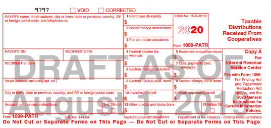 1099 form 2019  Many Tax Forms Are Changing! | Center for Agricultural Law ..