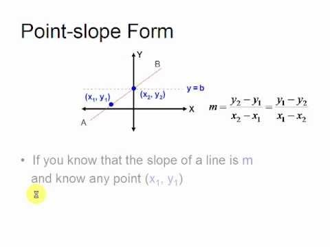 slope intercept form line calculator  Point-slope Form - Equations of straight lines - YouTube - slope intercept form line calculator
