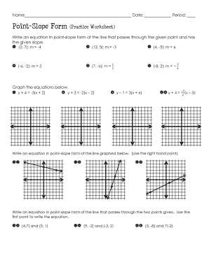 slope intercept form answer key