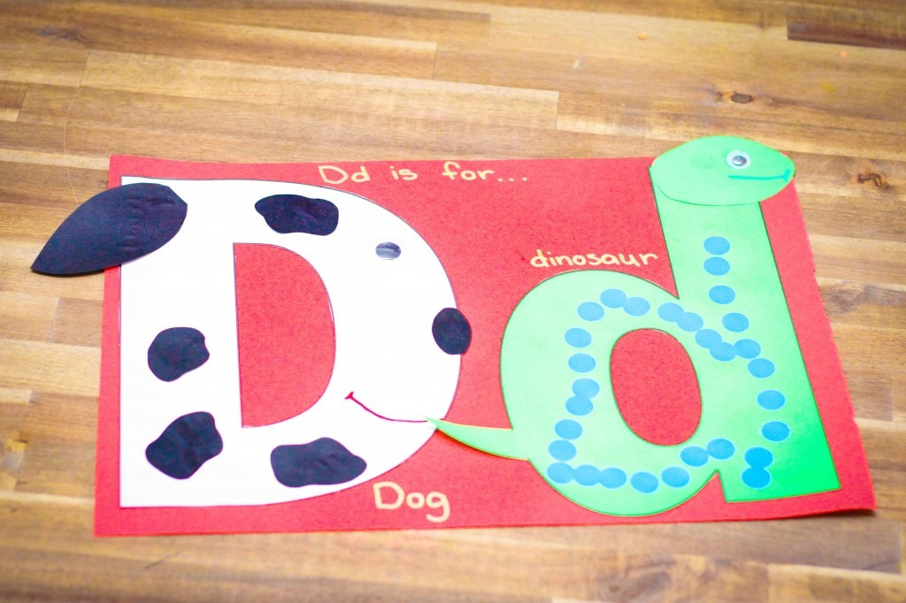 letter d duck craft template