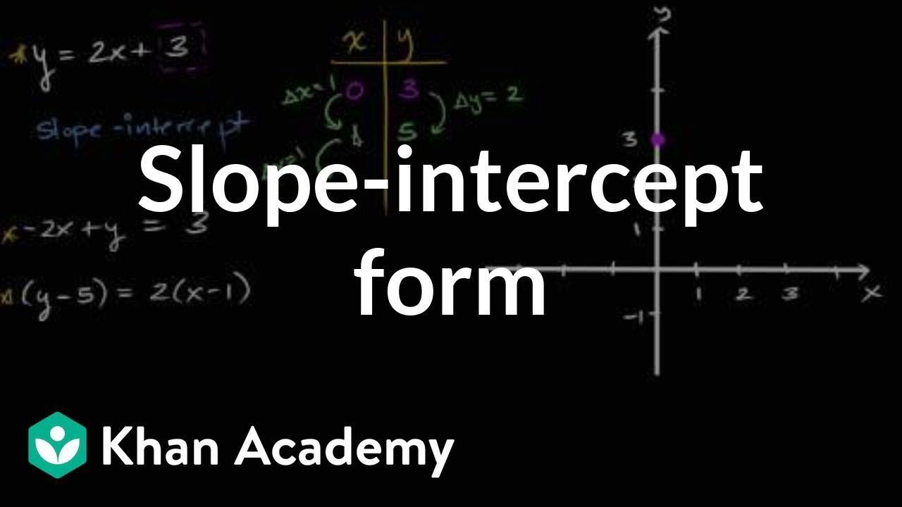 slope intercept form khan academy practice  Slope-intercept form | Algebra I | Khan Academy - YouTube - slope intercept form khan academy practice