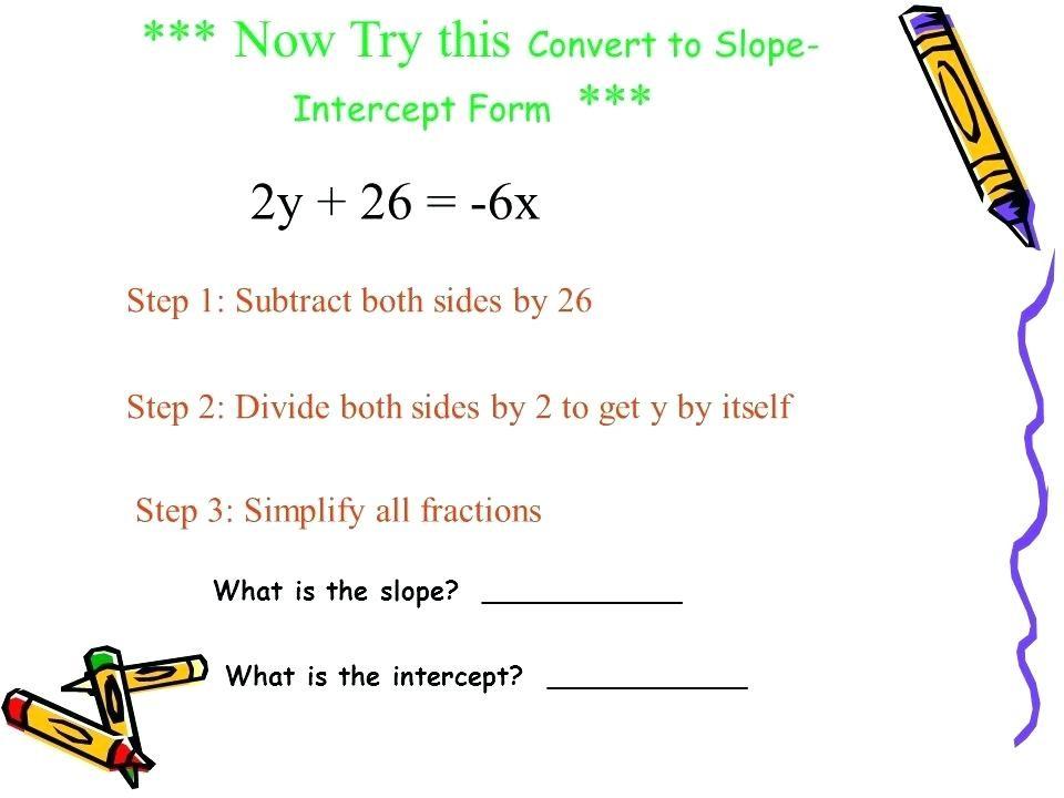 slope intercept form big ideas math  Slope Intercept Form Definition | World of Example - slope intercept form big ideas math