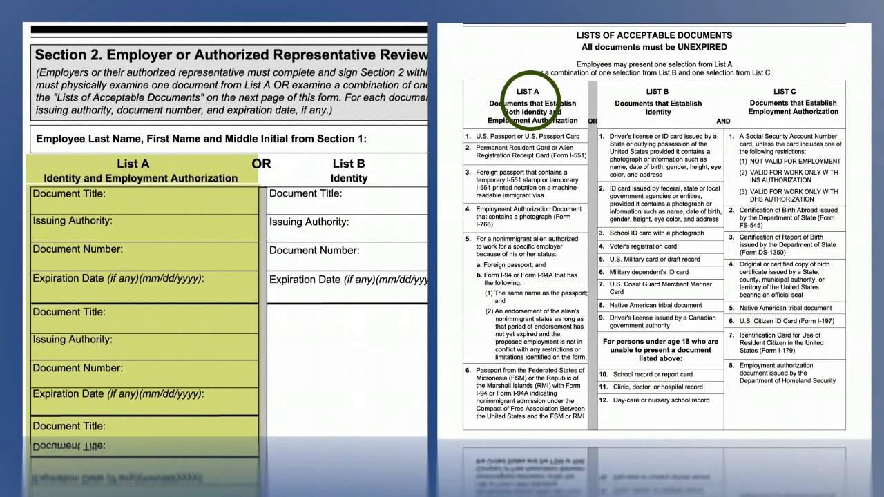 form i-9 verification  Video Form I 9, Employment Eligibility Verification ..
