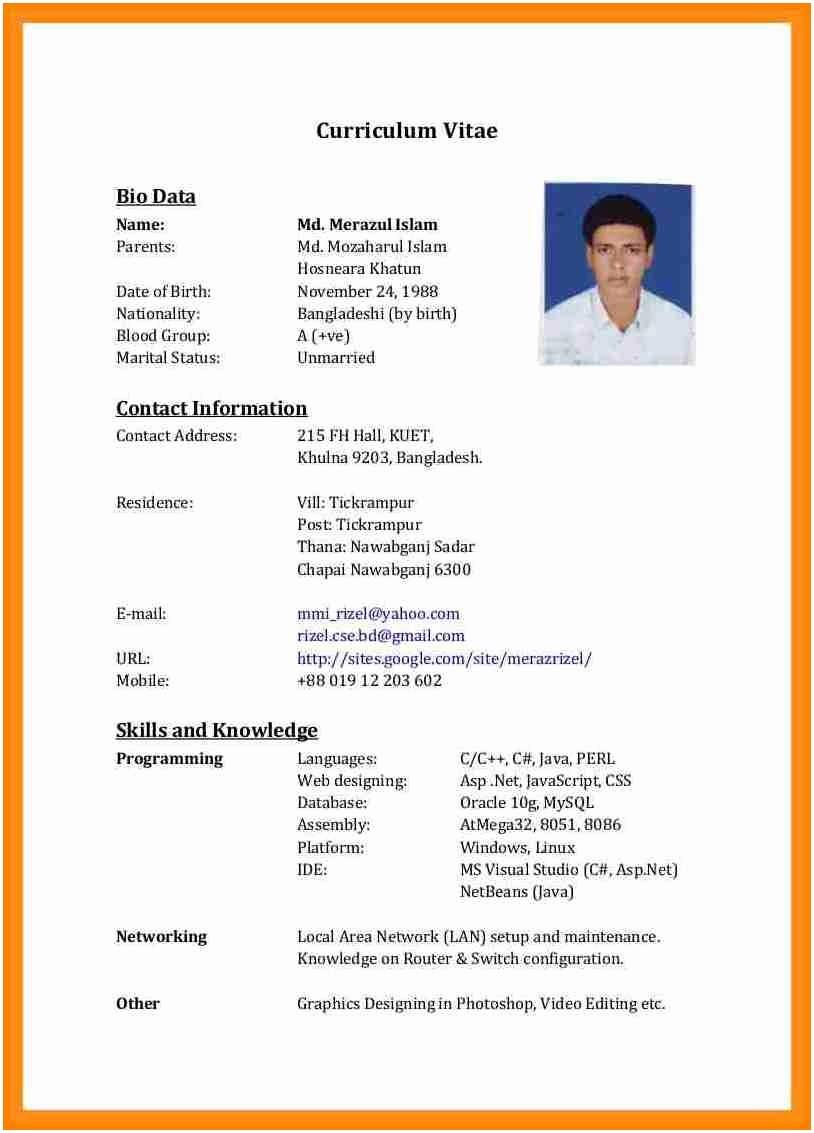 resume template address  10+ cv format in bangladesh | letter setup - resume template address