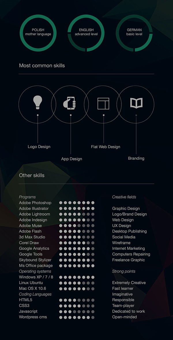 resume template graphic designer