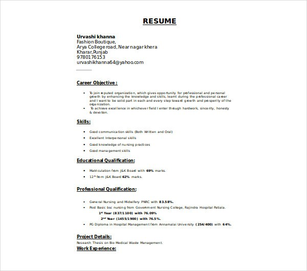 Resume Template Nursing Now Is The Time For You To Know