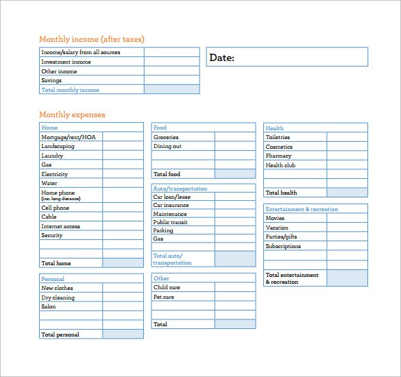 budget template download  10 Monthly Budget Calculator Templates to Download ..