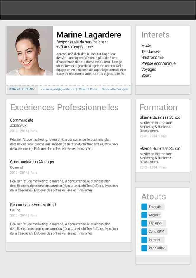 resume template unique  #11+ cv parfait gratuit | Modele CV - resume template unique