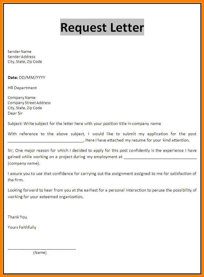 job application letter template  11+ farmat for formal application | weekly template - job application letter template