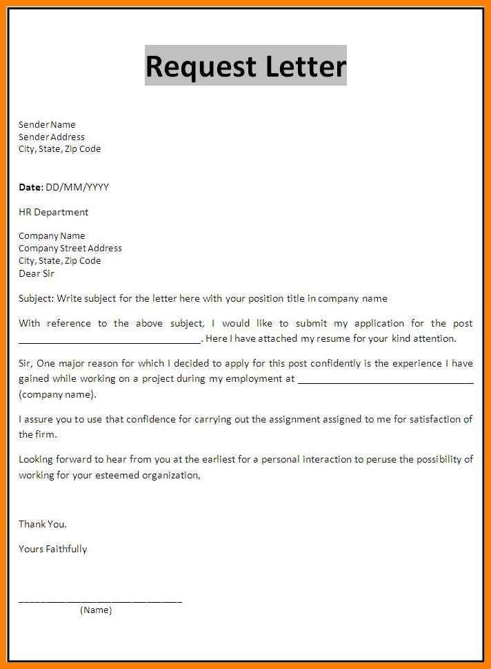 job application letter template  11+ farmat for formal application | weekly template - job application letter template