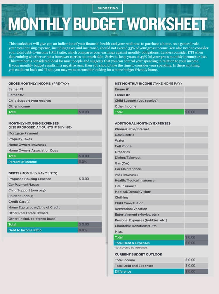 budget template for word  12+ Household Budget Worksheet Templates (Excel) - Easy ..