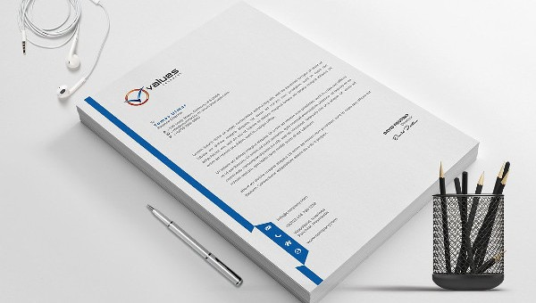 letter template outline  14+ Company Letterhead Designs - Free PSD, AI, Word Format ..