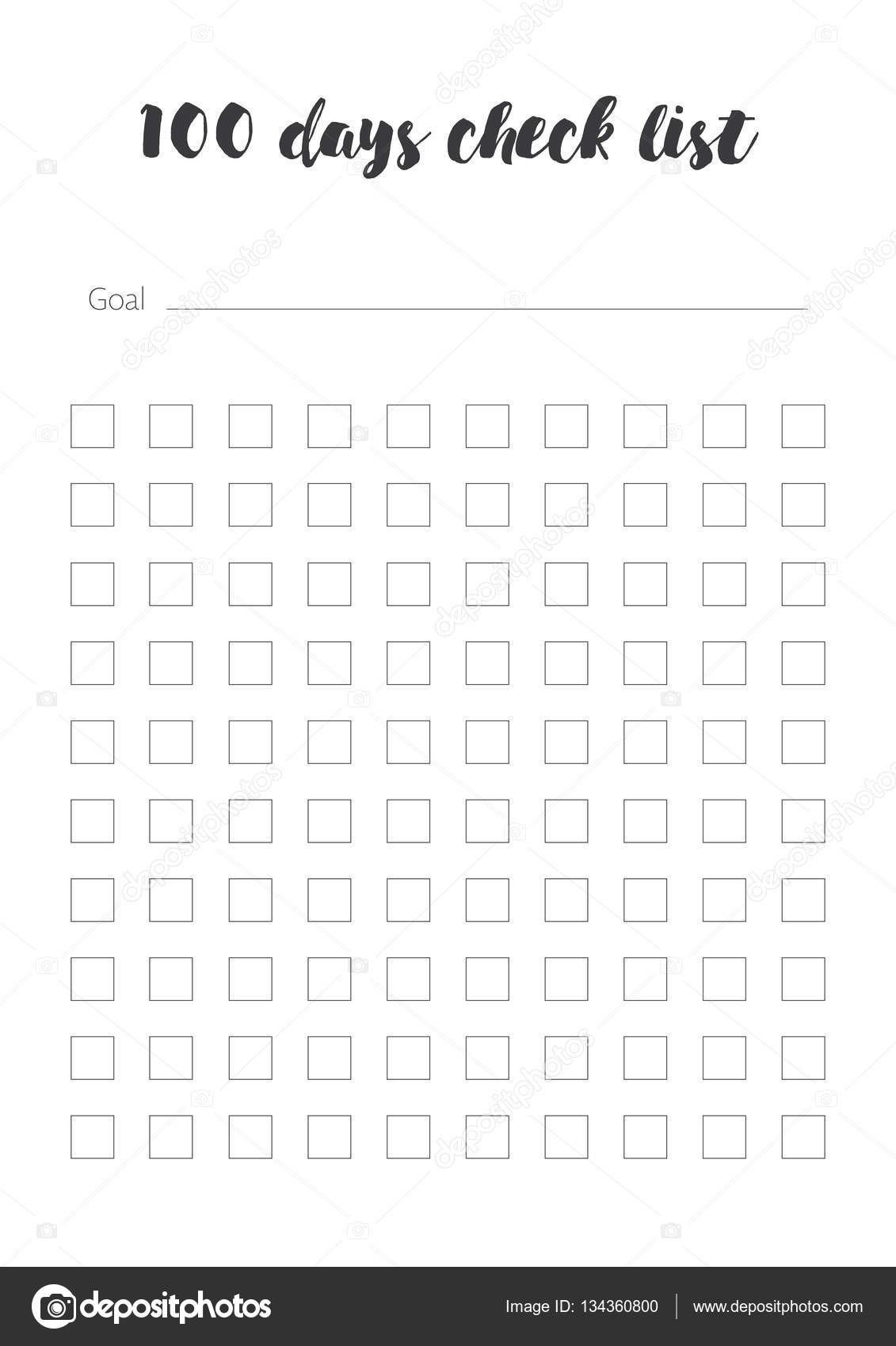 100 days calendar template  15+ checkliste vorlage | coffeeshacknc - 100 days calendar template