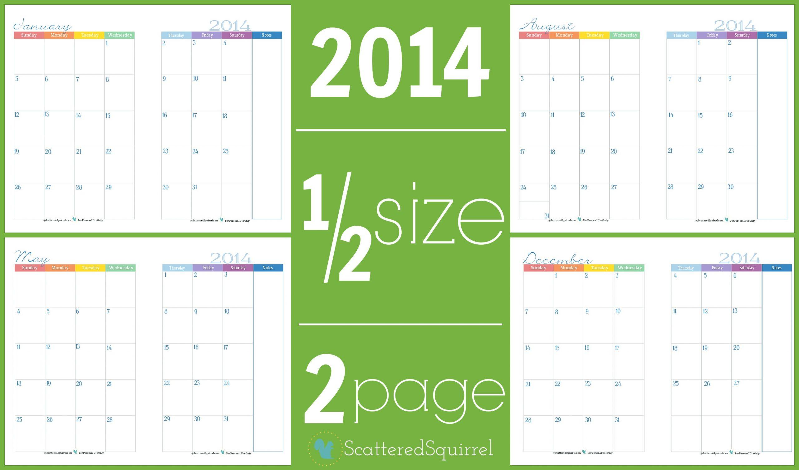 calendar template 4 months per page  2014 Calendars: Part 3 - Scattered Squirrel - calendar template 4 months per page