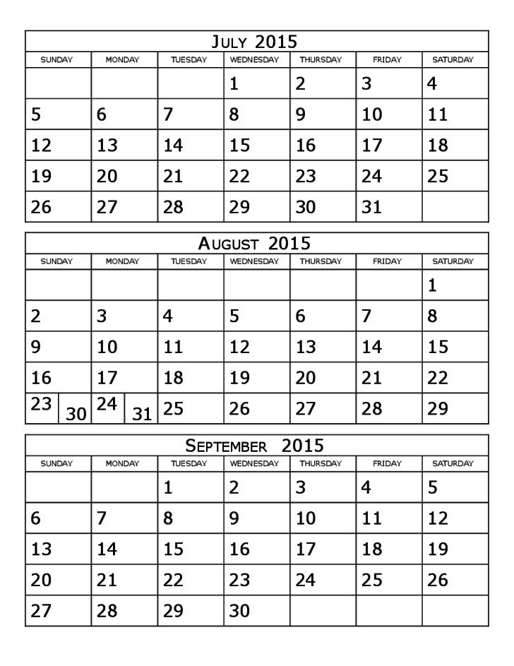 calendar template 3 months per page  2015 Calendar Three Months Per Page Free Download - calendar template 3 months per page