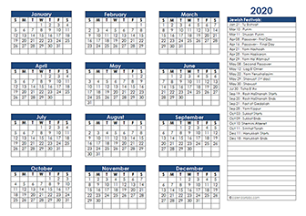 calendar template jan 2020  2020 Jewish Calendar – Jewish Religious Festival Calendar 2020 - calendar template jan 2020