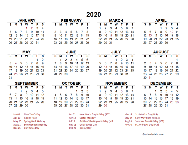 calendar template 2020 word  2020 Singapore Yearly Calendar Template Excel - Free ..