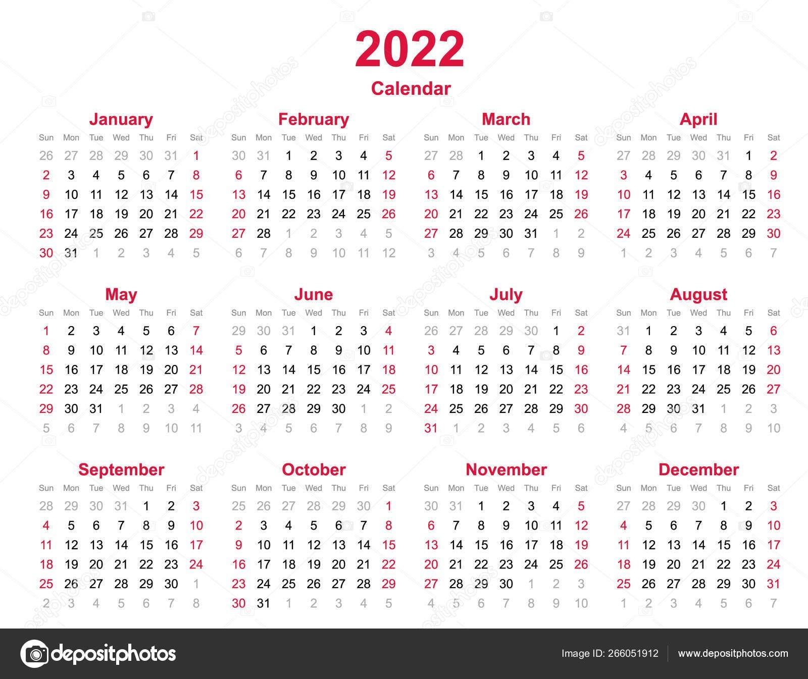 6 month blank calendar template  2022 Yearly Calendar Months Yearly Calendar Set 2022 ..