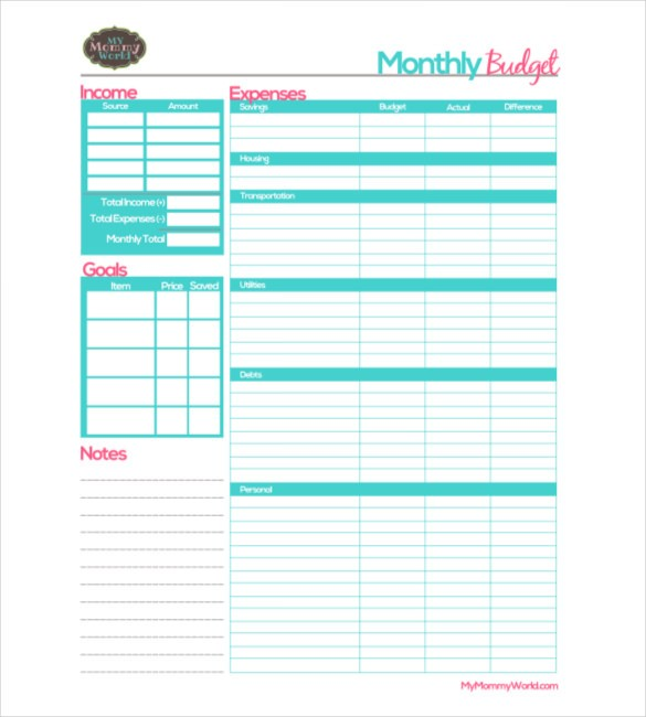 personal budget template google sheets  25+ Monthly Budget Templates - Word, PDF, Excel | Free ..