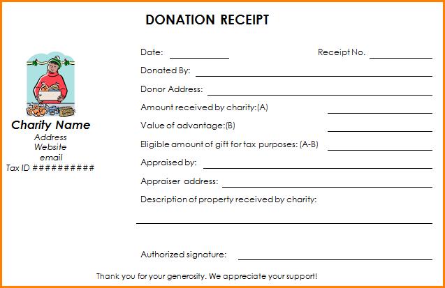 501c3 donation letter template  5+ 501c3 donation receipt | Restaurant Receipt - 501c3 donation letter template