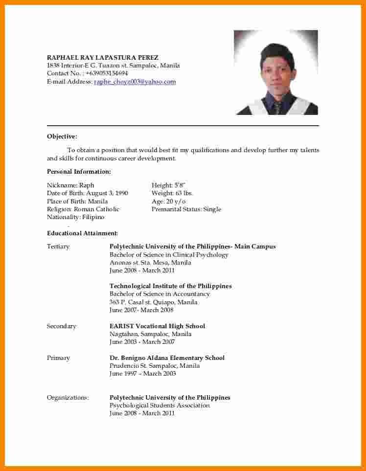 resume template teacher  5+ cv sample philippines | theorynpractice - resume template teacher
