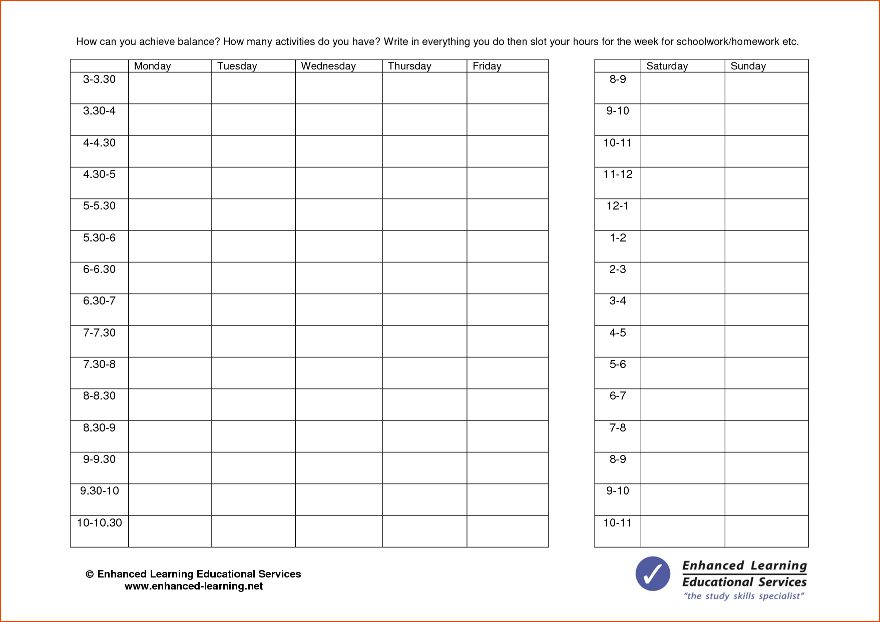 7 day calendar template word  5+ week planner template - bookletemplate