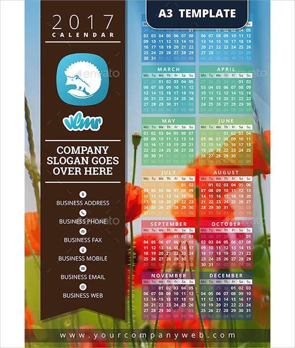 calendar template one week  50+ Calendar Design Templates | Design Trends - Premium ..