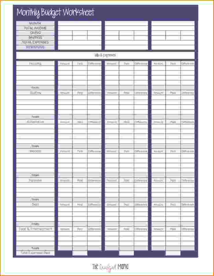 monthly budget template blank  6+ budget sheet pdf   teknoswitch - monthly budget template blank