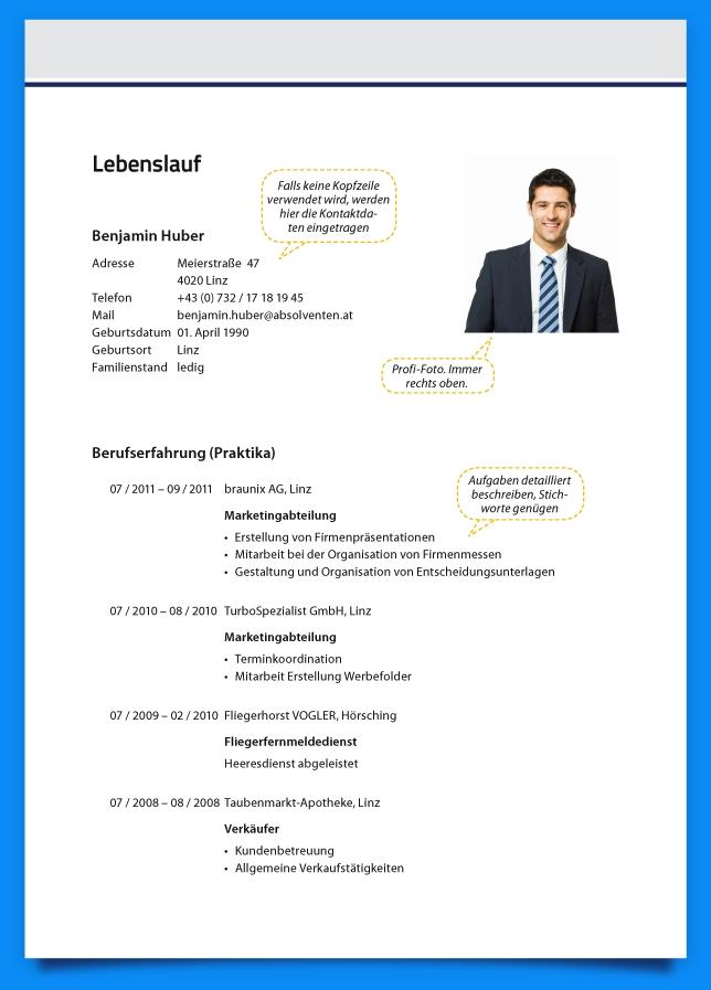 letter template image  6+ Lebenslauf Gestalten | Business Template inside ..