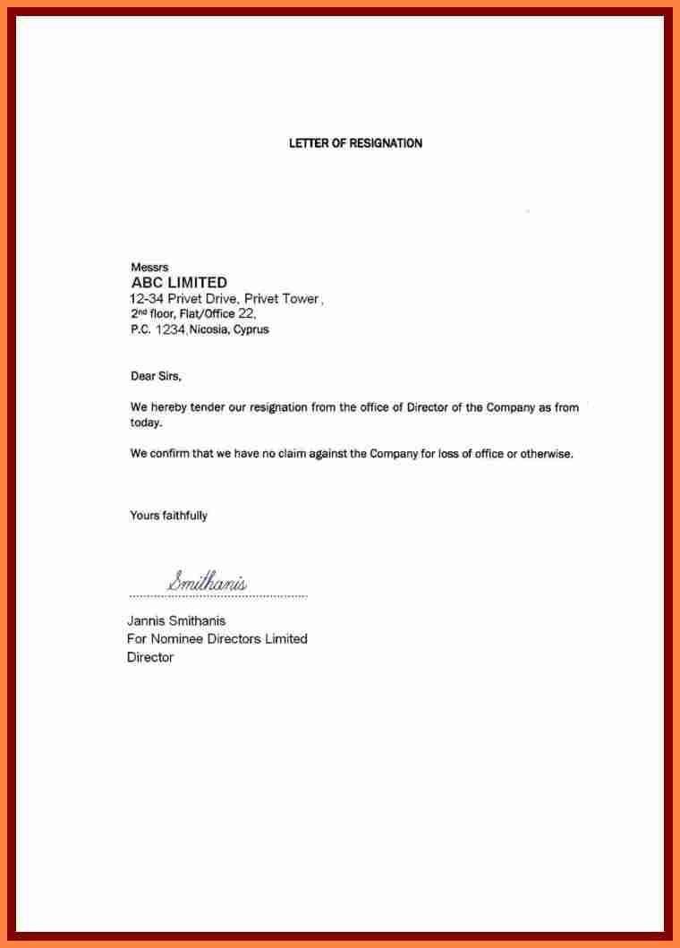 1 week notice letter template  6+ resignation letter giving one month notice | Notice Letter - 1 week notice letter template