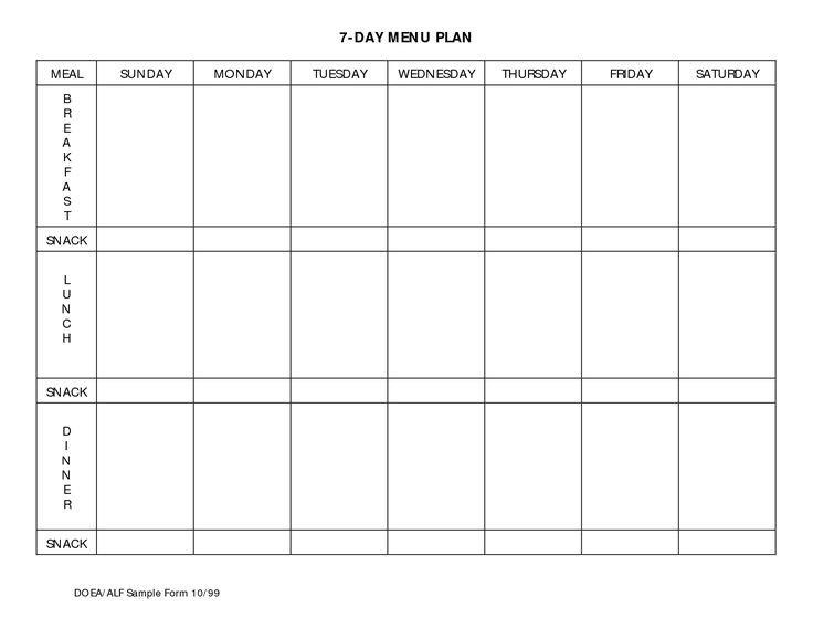 7 habits calendar template  7 Day Meal Planner Template | Beachbody | Pinterest | Meal ..