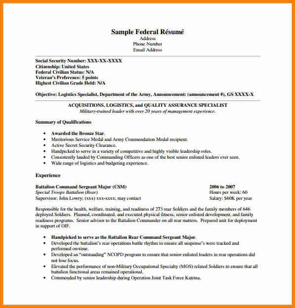 federal resume template usajobs  7+ example of federal resume | penn working papers - federal resume template usajobs