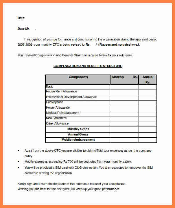 hr letter template  7+ salary structure format pdf | Salary Slip - hr letter template