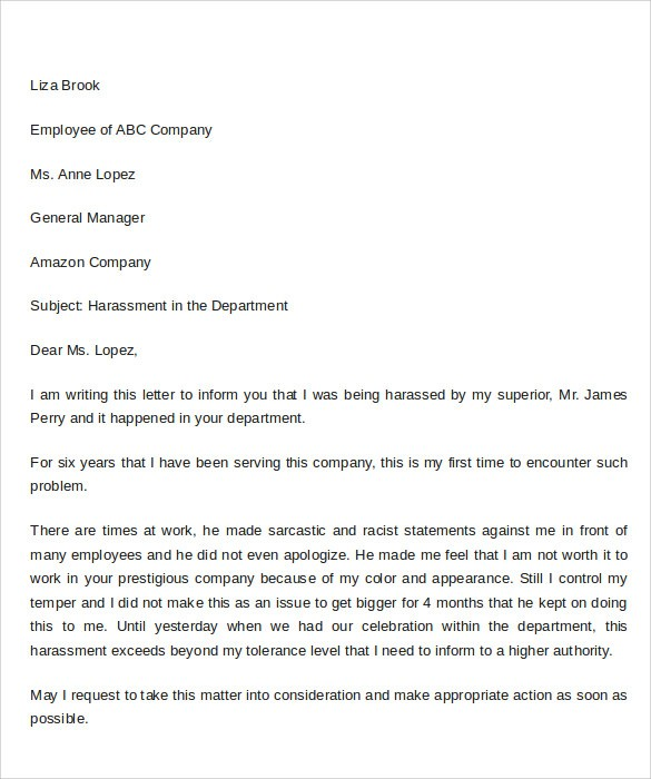 query letter template word  9 Sample Complaint Letter Format Templates to Download ..