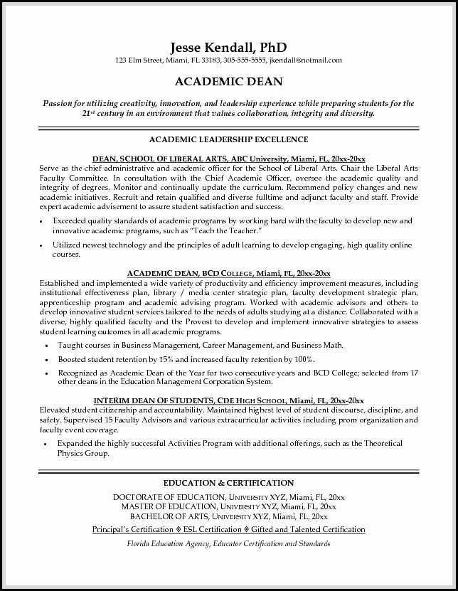 resume template high school graduate  Academic resume sample shows you how to make academic ..