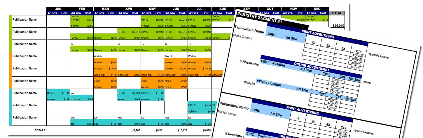 yearly work schedule template  Advertising Media Plan Template for Cost Analysis and ..