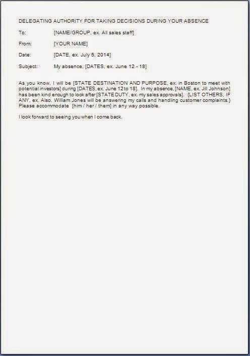 letter template with date  Authority Delegation Letter Sample - letter template with date