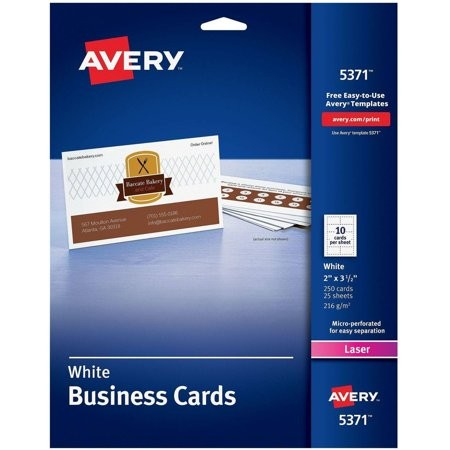 avery template 5371  Avery 5371 Laser Perforated Business Card - Walmart