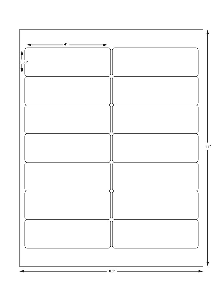 avery template 5162  Avery Label Sheet 5162 Compatible - 14 Labels Per Sheet - avery template 5162