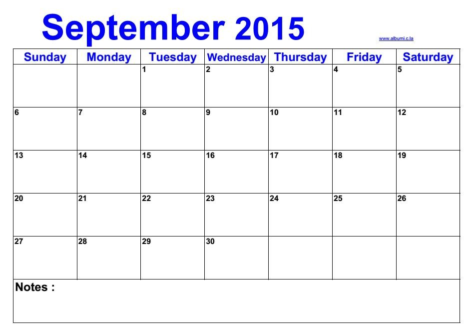 blank calendar template vertical  Blank calendar september 2015 | 2016 Blank Calendar ..
