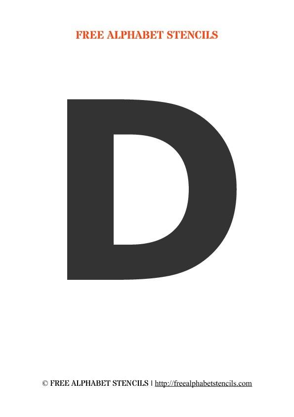 large letter k template  Bold Alphabet Stencils | FreeAlphabetStencils