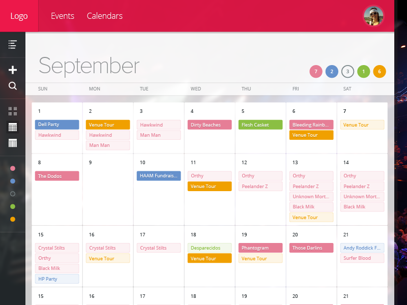 meeting room calendar template  Booking Calendar: Month by Ethan Leon | Dribbble | Dribbble - meeting room calendar template