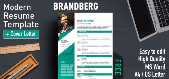 resume template pinterest  Brandberg - Modern Resume Template - resume template pinterest