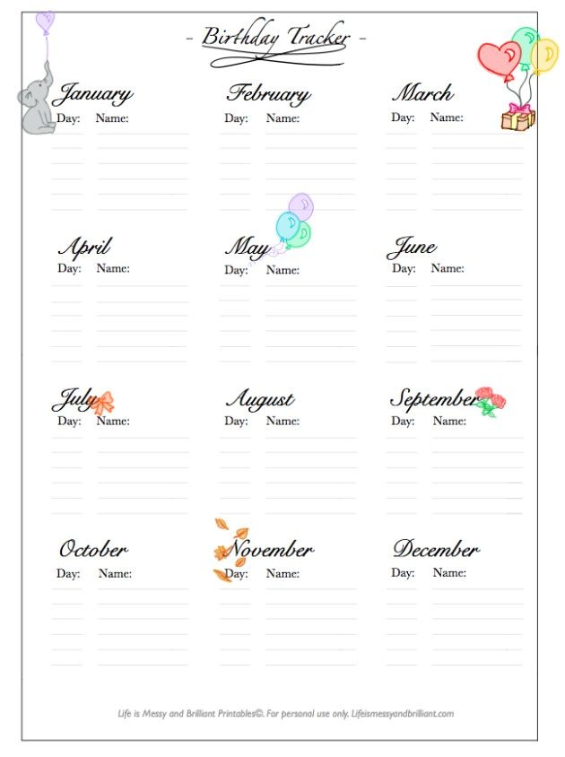 key dates calendar template  bullet-journal-planner-birthday-tracker-free-printable ..