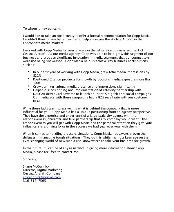reference letter template uk  Business Reference Letter - 7+ Free Word, PDF Documents ..