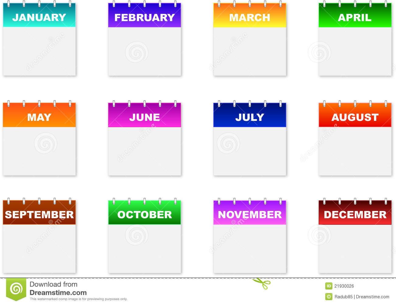 6 month calendar template  Calendar Icons Royalty Free Stock Image - Image: 21930026 - 6 month calendar template
